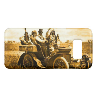 APACHES AND GERONIMO DRIVING A MOTOR CAR Yellow Case-Mate Samsung Galaxy S8 Case