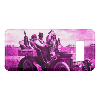 APACHES,GERONIMO DRIVING A MOTOR CAR Pink Purple Case-Mate Samsung Galaxy S8 Case