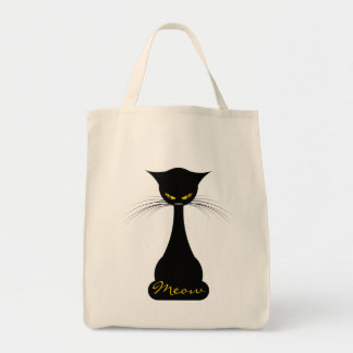 APAL: Black Cat Meow Canvas Bags