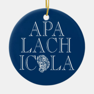 Apalachicola Florida Oyster Design Christmas Ornament