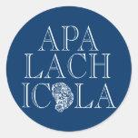 Apalachicola Florida Oyster Design Round Sticker