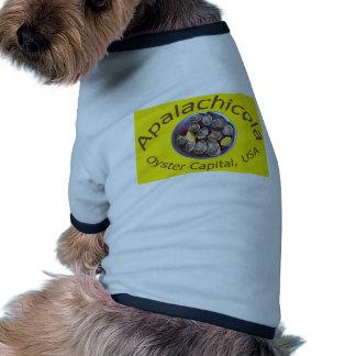 Apalachicola Oyster Capital yellow Doggie Tee
