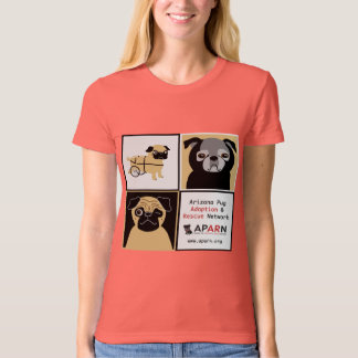 APARN Rescue Pugs Ladies Organic T-Shirt (Fitted)