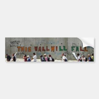 ApartheidWall-Qalqilya Bumper Sticker