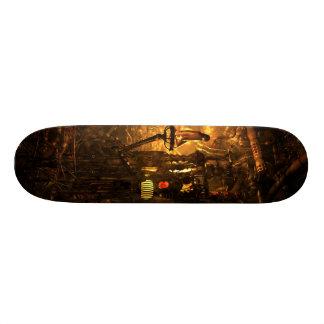 Apartment: boiler room skateboard