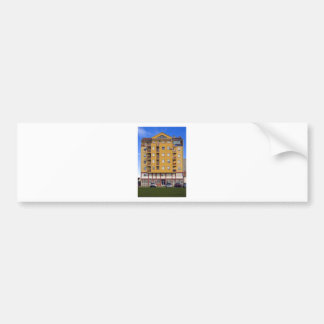 apartment building bumper sticker