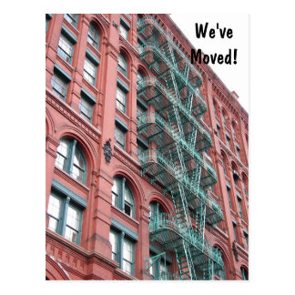 Apartment Building Change of Address Postcard