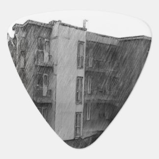 Apartment Building Guitar Pick