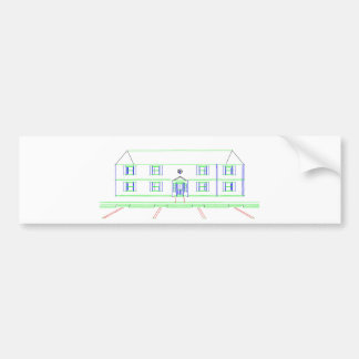 Apartment Building House Marker Drawing Bumper Sticker