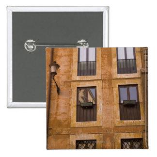 Apartment windows, Rome, Italy 2 15 Cm Square Badge