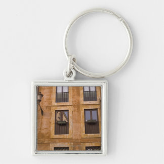 Apartment windows, Rome, Italy 2 Silver-Colored Square Key Ring