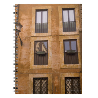 Apartment windows, Rome, Italy 2 Spiral Notebook