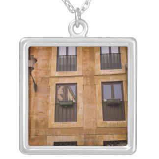 Apartment windows, Rome, Italy 2 Square Pendant Necklace