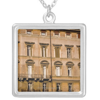 Apartments, Rome, Italy 2 Silver Plated Necklace
