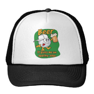 Apathy edge beer drinking golf ball cap