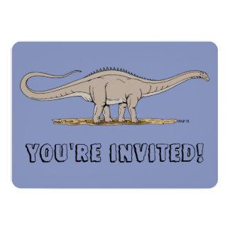 Apatosaurus 13 Cm X 18 Cm Invitation Card