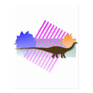 Apatosaurus Brown with Pink Grill Postcard