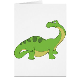 Apatosaurus Greeting Card