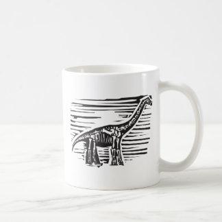 Apatosaurus Fossil Coffee Mugs