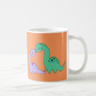 Apatosaurus kiss - Mug