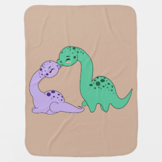 Apatosaurus love - Baby blanket