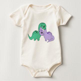 Apatosaurus love - Baby infant organic Bodysuit