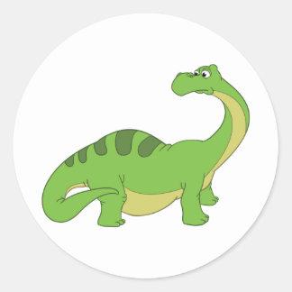Apatosaurus Round Sticker