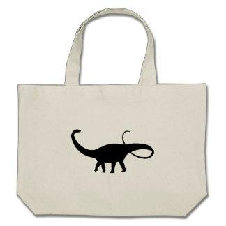 Apatosaurus Silhouette Tote Bag