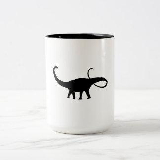 Apatosaurus Silhouette Mug