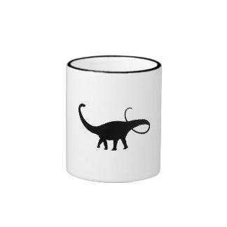 Apatosaurus Silhouette Coffee Mugs
