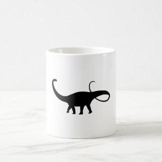 Apatosaurus Silhouette Mugs