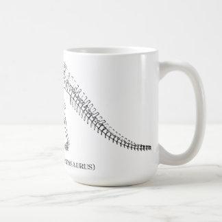 apatosaurus skeleton basic white mug