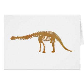 apatosaurus skeleton greeting card
