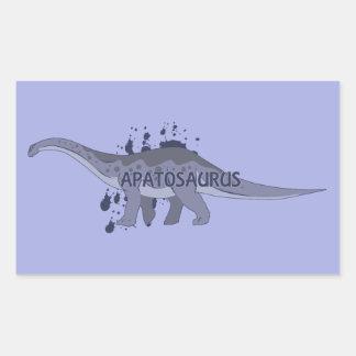Apatosaurus Rectangular Sticker