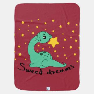 Apatosaurus sweet dreams pramblanket