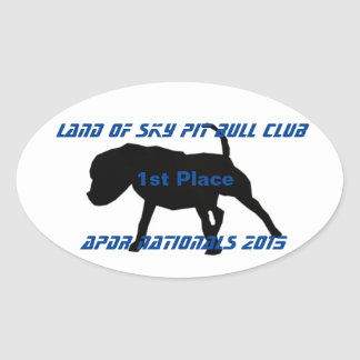APBT APDR Nationals Oval Sticker