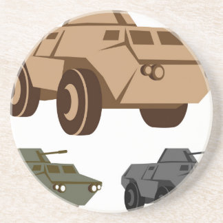 APC armored personnel carrier Beverage Coaster