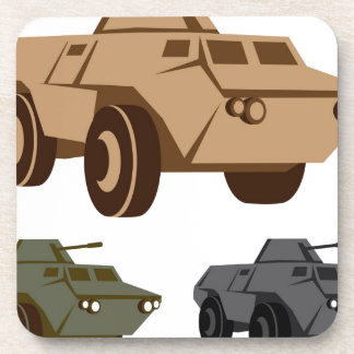 APC armored personnel carrier Beverage Coasters