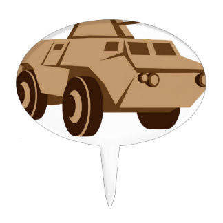 APC armored personnel carrier Cake Toppers