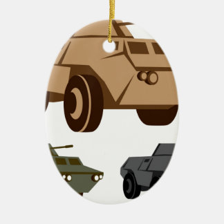 APC armored personnel carrier Ceramic Oval Decoration