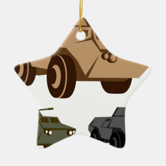 APC armored personnel carrier Ceramic Star Decoration