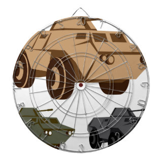 APC armored personnel carrier Dartboard With Darts