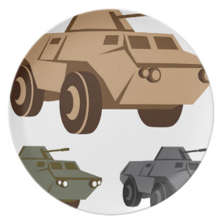 APC armored personnel carrier Dinner Plate