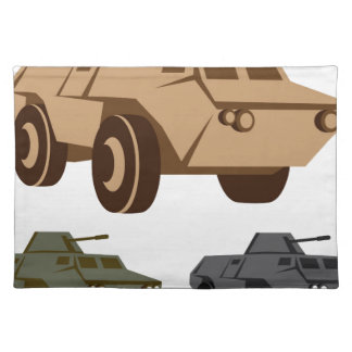 APC armored personnel carrier Placemat