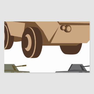 APC armored personnel carrier Rectangular Sticker