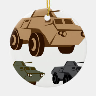 APC armored personnel carrier Round Ceramic Decoration