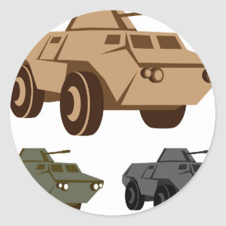 APC armored personnel carrier Round Sticker