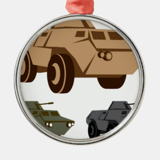 APC armored personnel carrier Silver-Colored Round Decoration