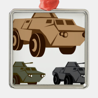 APC armored personnel carrier Silver-Colored Square Decoration