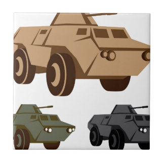 APC armored personnel carrier Small Square Tile